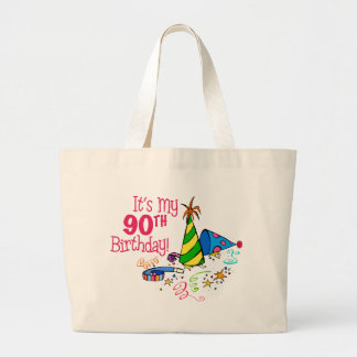 It's My 90th Birthday (Party Hats) Canvas Bags