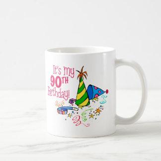 It's My 90th Birthday (Party Hats) Classic White Coffee Mug
