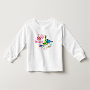 Its My 90th Birthday Party Hats Toddler T Shirt