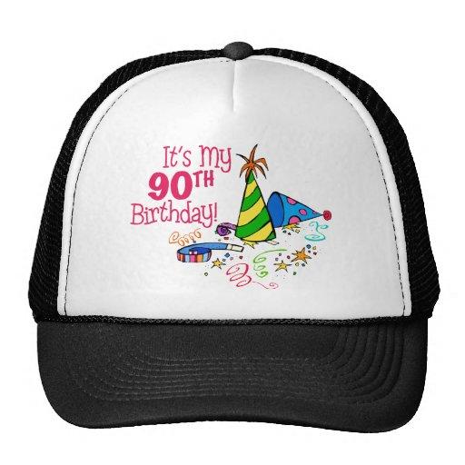 It's My 90th Birthday (Party Hats) Trucker Hat