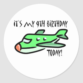 It's My 9th Birthday Today Classic Round Sticker