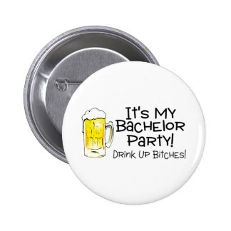 Its My Bachelor Party Beer Pin