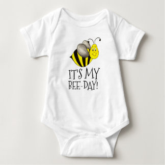 It's My Bee-Day Birthday Bumblebee Bumble Bee Bday Baby Bodysuit