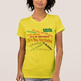 It's My Birthday 10th Birthday Gifts T Shirt