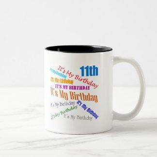 It's My Birthday 11th Birthday Gifts Coffee Mugs
