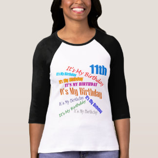 It's My Birthday 11th Birthday Gifts Shirt