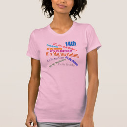 It's My Birthday 14th Birthday Gifts T-Shirt
