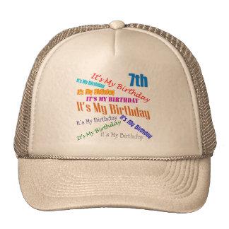 It's My Birthday 7th Birthday Gifts Trucker Hat