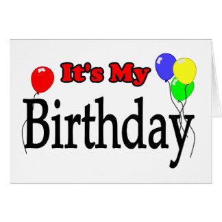 It's My Birthday Balloons Birthday Card