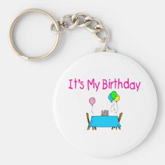 It's My Birthday Basic Round Button Keychain