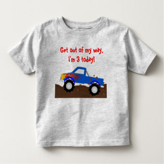 It's My Birthday Blue Monster Truck Toddler T-shirt