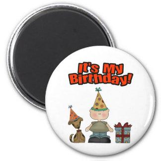 Its my birthday (BOY) 2 Inch Round Magnet