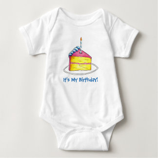 It's My Birthday Cake w/ Candle Bday Infant Suit Infant Creeper