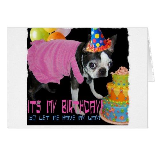 ITS MY BIRTHDAY CARD