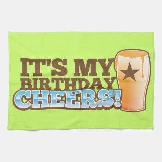 It's My Birthday CHEERS! beers! Hand Towels
