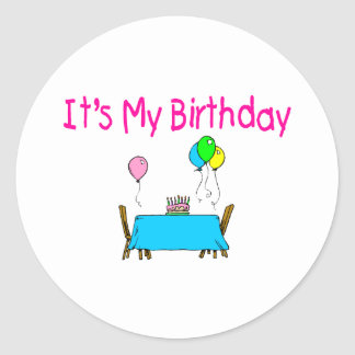 It's My Birthday Classic Round Sticker