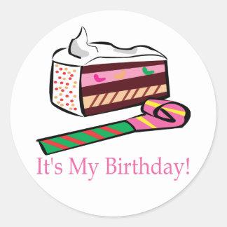 Its My Birthday Classic Round Sticker