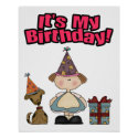 Its my birthday (GIRL) print