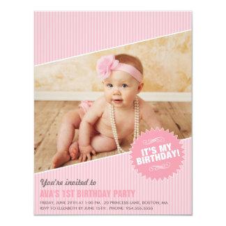 """IT'S MY BIRTHDAY! 4.25"""" X 5.5"""" INVITATION CARD"""