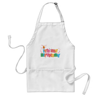 It's My Birthday Letters Apron