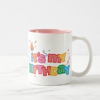 It's My Birthday Letters Mug