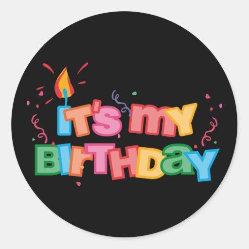 It's My Birthday Letters Sticker