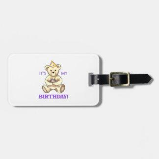 Its My Birthday Travel Bag Tag