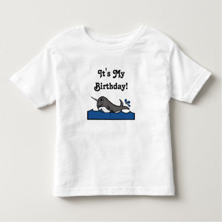 It's My Birthday Narwhal Toddler T-shirt