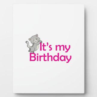 Its My Birthday Photo Plaque