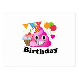 It's My Birthday Poop Emoji  kids Boy Party Postcard
