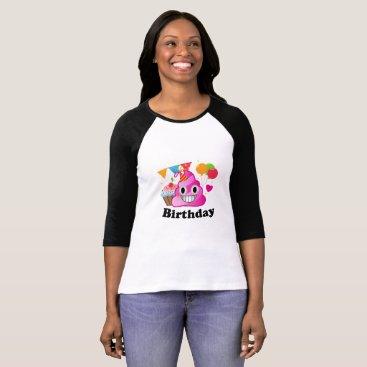 de_look It's My Birthday Poop Emoji  kids Boy Party T-Shirt