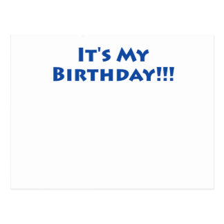 It's My Birthday! Postcard