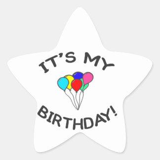 It's My Birthday! Star Sticker