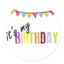 its my birthday sticker