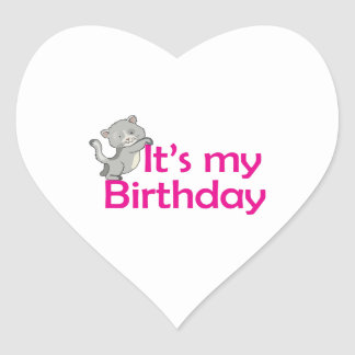 Its My Birthday Heart Sticker