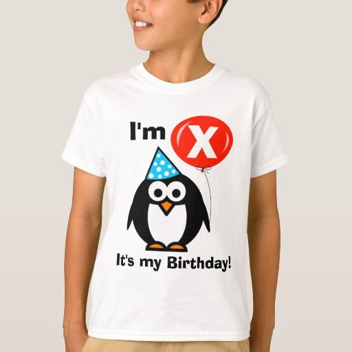 It 39 s my birthday t shirt for kids custom age zazzle for My custom t shirt