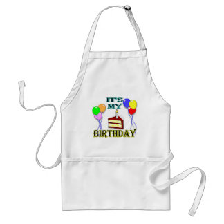 It's My Birthday with Cake Cooking Apron Standard Apron