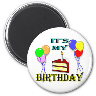 It's My Birthday with Cake Magnet