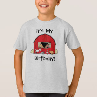 It's My Birthday Youth Barn and Animals  T-Shirt