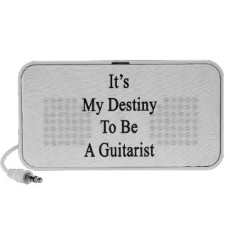 It's My Destiny To Be A Guitarist iPod Speakers