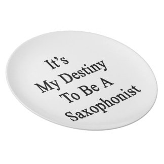 It's My Destiny To Be A Saxophonist Dinner Plate