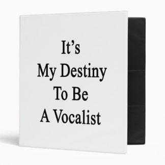 It's My Destiny To Be A Vocalist Vinyl Binders