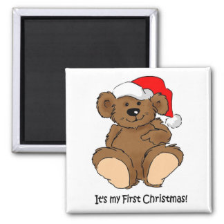 It's my First Christmas 2 Inch Square Magnet