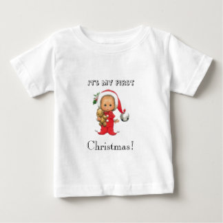 It's my first Christmas holiday baby T shirt