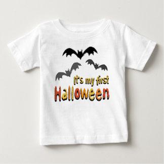 It's My First Halloween Bats Baby Tee