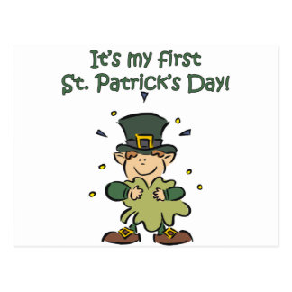 It's my First St. Patrick's Day Postcard