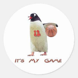It's my game classic round sticker