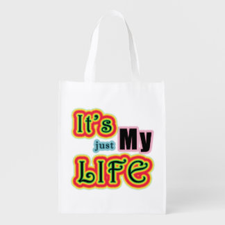 It's My Life Reusable Grocery Bag