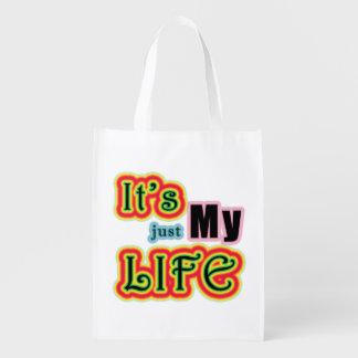 It's My Life Reusable Grocery Bag