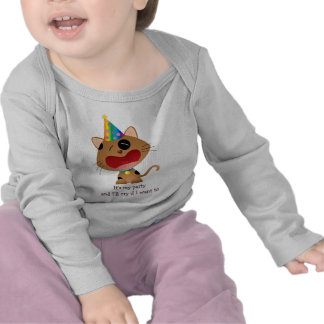 Its My Party I ll Cry if I Want to Cute Kitten T-shirts